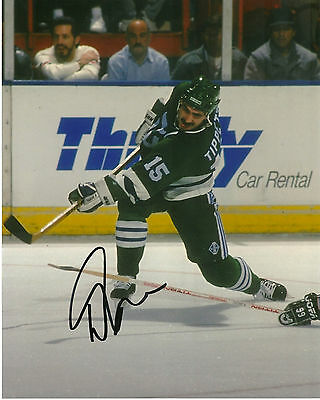 Hartford Whalers Dave Tippett Autographed Signed 8x10 Photo COA