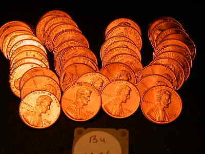 Full 50pc Roll 1996 D Ch/Gem Lincoln Cents  BU Cherry RED Coins!!!!