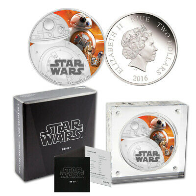 2016 Star Wars BB-8 Silver Proof $2 Coin - The Force Awakens