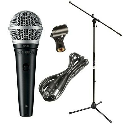 Shure PGA48 Cardioid Dynamic Vocal Microphone with XLR Cable PERFORMER PAK
