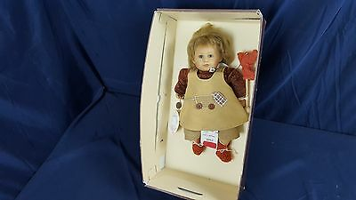 "Zapf Collection Von Wiltrud Stein Natalie Doll 2002 12"" Tall w Tags Bracelet Box"