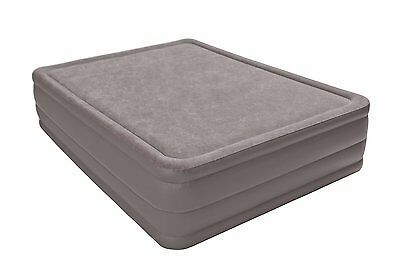 Intex Queen Raised Air Bed Foam Top Mattress with Build in Air Pump | 67953E