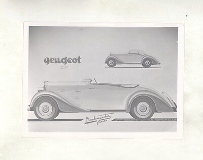 1934 ? Peugeot 301 Robinson Cliche Meulemeester Cabriolet ORIGINAL Photo ww6799