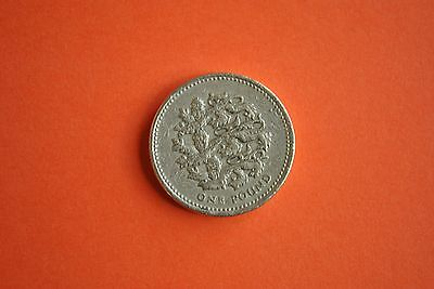1997 One Pound Coin from UK, Three Lions