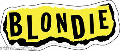 Blondie Sticker Decal Torn Paper Logo New Wave Punk Pop Debbie Harry NEW