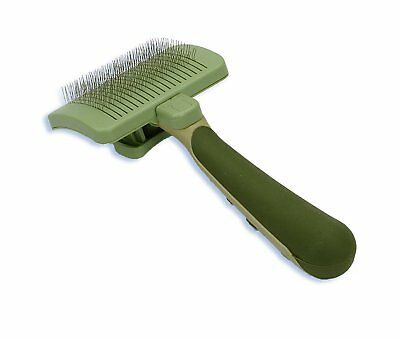 SAFARI Pet Self Cleaning Slicker Brush for Cats Excellent Grooming Tool Medium