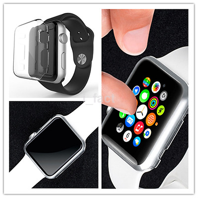 Stylish Ultra Thin Clear Case Cover Protective Bumper For Apple Watch 38/42mm CA