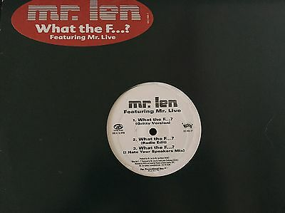 "Mr Len Feat Mr Live- What The F###? 12"" Vinyl Hip Hop"