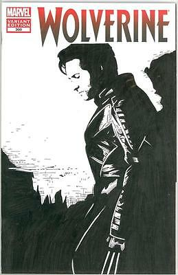 Wolverine #300 Hugh Jackman Logan Original Art Sketch Marvel Movie