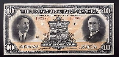 1927 Royal Bank of Canada $10 - VF
