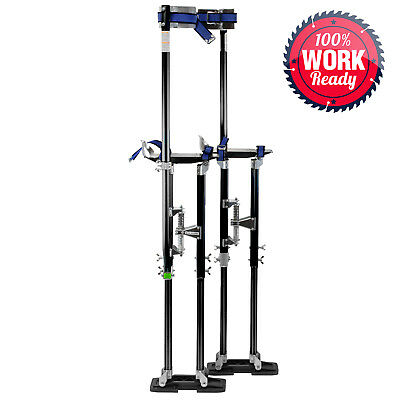 "Drywall Stilts Painters Walking Finishing Tools - Adjustable 36"" - 48"" Black"