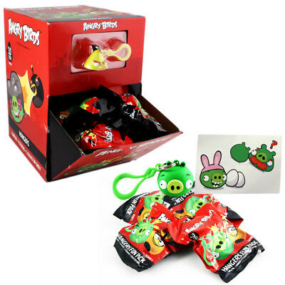 Angry Bird Hangers Keychain Blind Bags (40 Pcs) Set New Stickers Collector Sheet