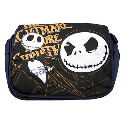 "Nightmare Before Christmas 14"" Messenger Bag - JACK SKELLINGTON New (Bookbag)"
