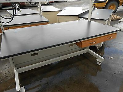"Lab Work Bench With Power Bar 72X37X35.5"" (78.5"") W/ Roll Set Leveling Castors"