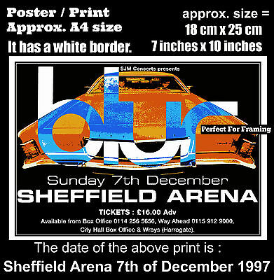 Blur live concert Sheffield Arena 7th of December 1997 A4 size poster print