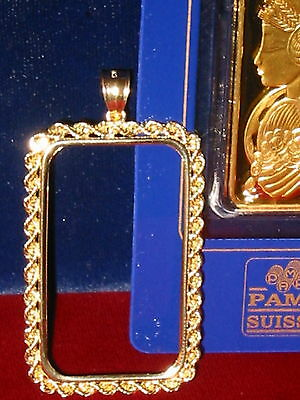 14~Kt Solid Gold ~ For 1~Ounce Size~Solid Rope  Bezel ~ 5.1 Grams Gold ~ $209.88
