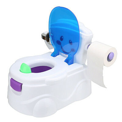 2 in 1 Baby Toilet Trainer  Kid Music Potty Training Seat Fun Chair+toy