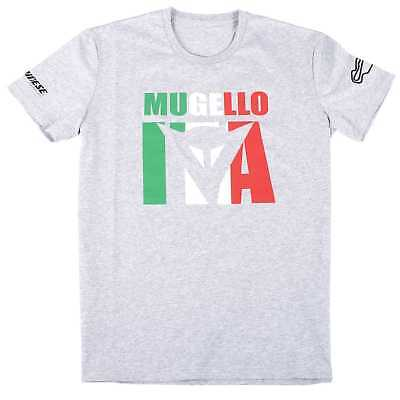 New Dainese Mugello D1 Adult MotoGP Track Tee/T-Shirt, Melange-Gray, Small/SM