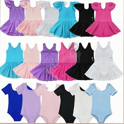 Kids Girls Gymnastics Ballet Dress Leotard Tutu Skirt Dancewear Toddler Costume