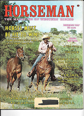 Horseman The Magazine  Of Western Riding December 1967 Equine Data & Stories
