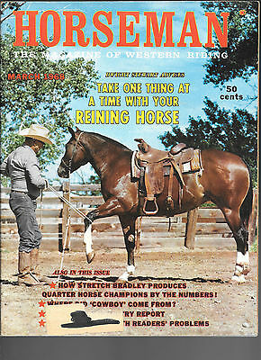 Horseman The Magazine  Of Western Riding March 1968 Equine Data & Stories