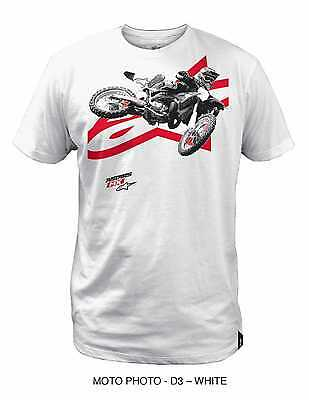 Alpinestars Moto Photo Adult 100% Cotton/Regular Fit Tee/T-Shirt, White, 2XL/XXL