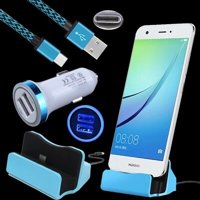 Type C Charger Dock+DC Car Adapter+Cable for ZTE Zmax Pro Z981 Grand X 4 X3 Z959
