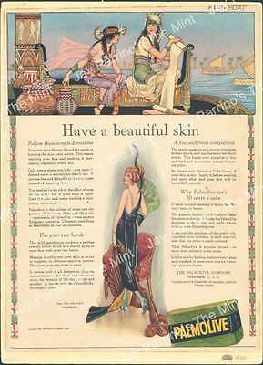 AJJ-427 Antique Print 1920 Palmolive Have a Beautiful Skin Advertisement Ad