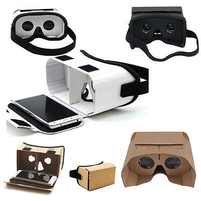 Cardboard Virtual Reality 3D Glasses For Google Android iPhone Samsung Phone