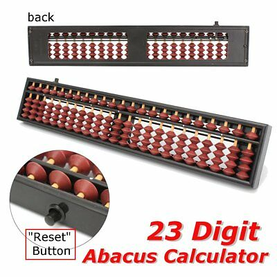 23 Digit Rods Chinese Japanese Calculator Counting Standard Abacus Soroban