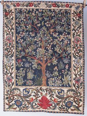 Stunning French Medieval Style Tapestry 640mm X 460mm Tree and Ornate Foliage