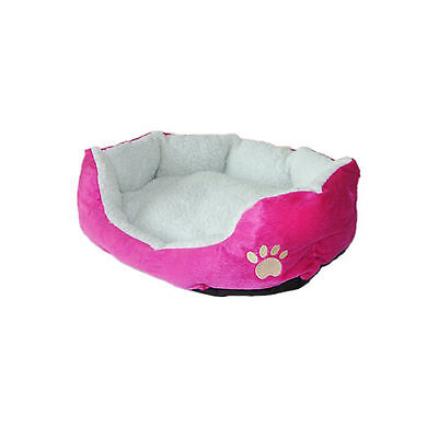 Pink Small Soft Indoor Pets Dog Bed Warm Sofa House Mat Nest Cushion Fleece