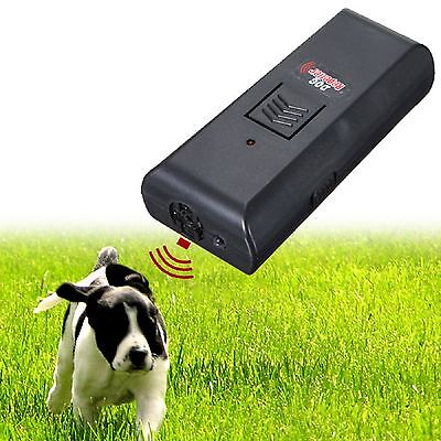 Ultrasonic Sound Dog Pet  Repeller bark stop Training Obedience training Trainer
