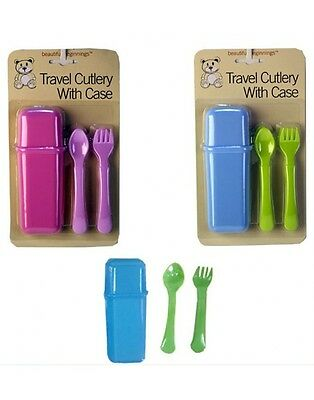 3 Piece Plastic KidsCamping Cutlery Kit Picnic Knife Spoon Fork Compact Travel