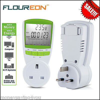 Plug Electricity Power Consumption Meter Energy Monitor Watt Kwh Analyzer Socket