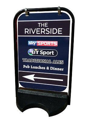 PAVEMENT SIGN BOARD DISPLAY with GRAPHICS MENU double sided SWINGER CLASSIC
