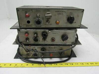 Strobe-O-Matic Model B Web Printing Press Inspection Power Supply Lot of 3
