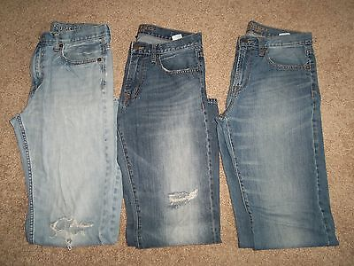 Lot Of 3 American Eagle Mens Bootcut Jeans Size 32 x 34