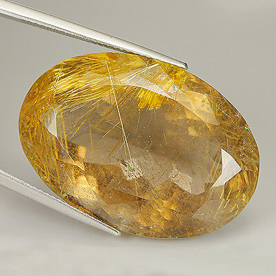 Awesome 59.01 Ct Natural Africa RUTILATED QUARTZ Oval Gem @ See Video !!
