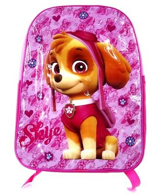 Official Licensed Pink Skye Paw Patrol Childrens Backpack Childs School Bag