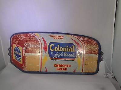 Vintage Rare COLONIAL Bread Door Push Country Store Sign  949-T