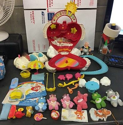 COMPLETE Vintage 1983 Kenner Care Bear Care-A-Lot & Cloud Mobile + MORE