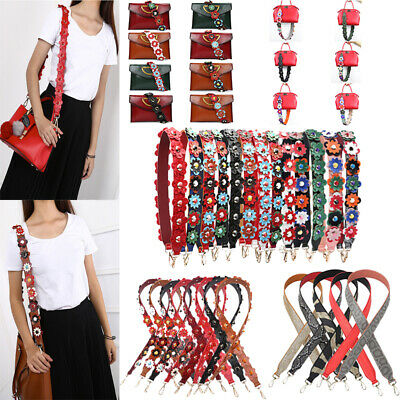Women Ladies Colorful Flowers Rivet Handbag Shoulder Strap Bag Purse Accessories