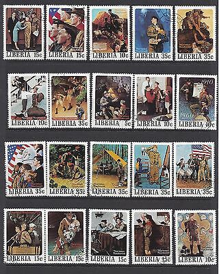 1979  Liberia    Sc#853-57 A Good Turn By Norman Rockwell 50 Used Stamps