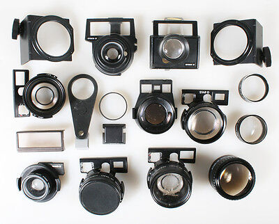 Telephoto/Wide Angle Lenses And Parts Lot Of 17