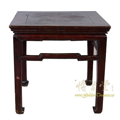 Chinese Antique Carved Meditation Stool/End Table 28P14
