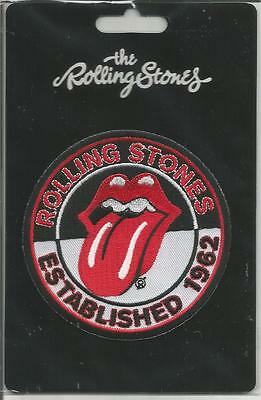 ROLLING STONES Iron On Sew On Patch Established 1962 Official Band Merch