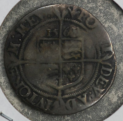 1563 Elizabeth I English Silver Six Pence Hammered Coin!!