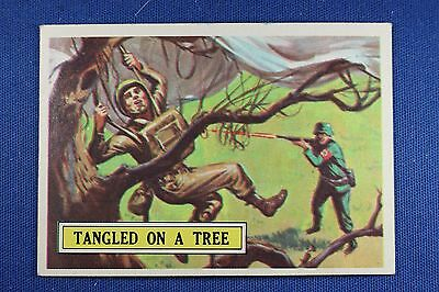 1965 Topps Battle Cards - #51 Tangled In A Tree - Excellent Condition