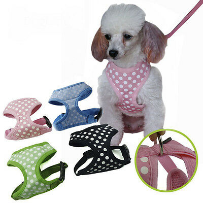 New Dog Harness Dot Pet Puppy Chest Vest Breathable Walking Collar Without Leash